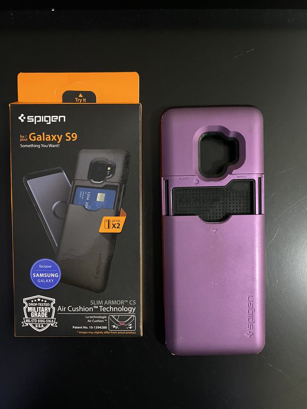 Samsung Galaxy S9 Credited Card Phone Case Color Purple