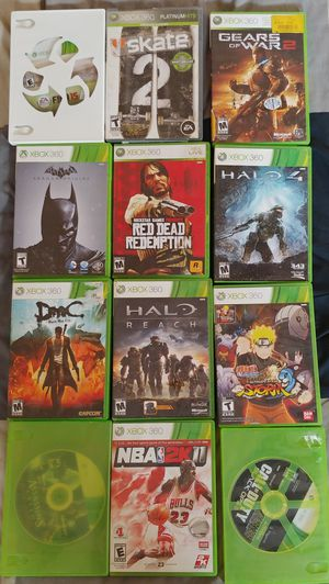 12 Xbox 360 assorted games - price negotiable for Sale in Cambridge, MA