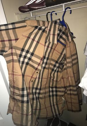 Authentic Burberry long sleeve Large for Sale in Murfreesboro, TN