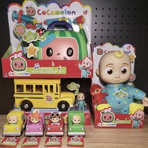 "NEW COCOMELON COMPLETE TOY SET - JJ 10"" Doll, School Bus, Doctor Box & 4 Cars for Sale in Los Angeles, CA"