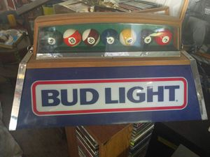 Bud Light Pool Balls Retro Bar Light for Sale in Bangor, ME