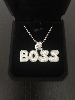 925 sterling silver boss pendant with chain for Sale in Philadelphia, PA