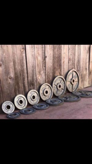 OLYMPIC WEIGHT SET PLUS BAR for Sale in San Diego, CA