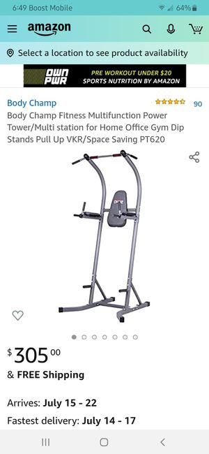 Body Champ Power Tower workout station for Sale in Sanford, NC