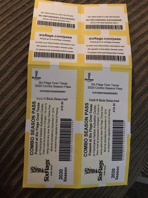 Six Flags Tickets for Sale in Dallas, TX