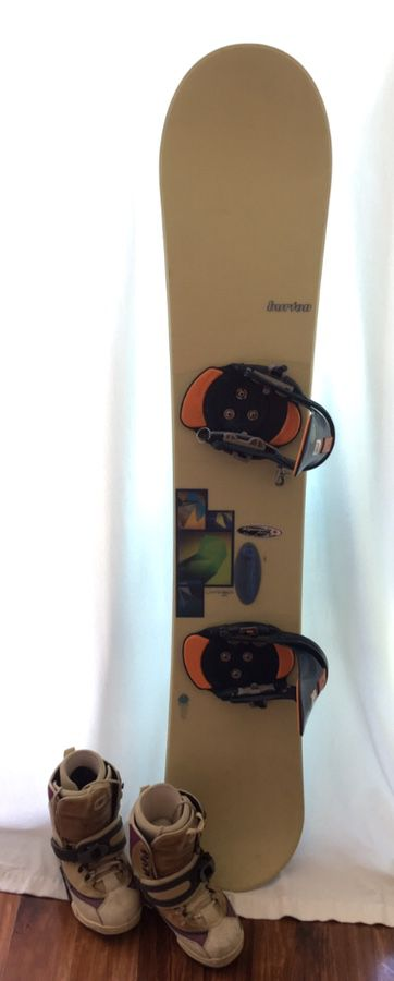 Burton Charger Snowboard, Step-in Bindings, and Boots