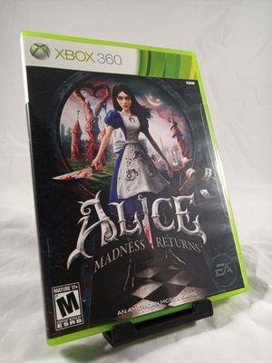 Alice Madness Returns CIB for Xbox 360 for Sale in Phoenix, AZ