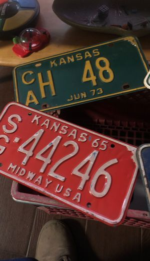 Kansas Plates for Sale in Bakersfield, CA