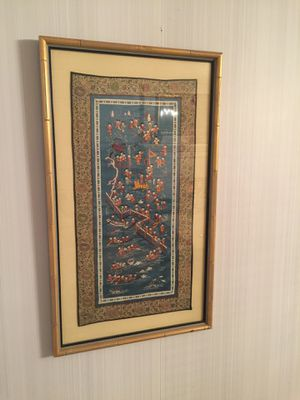 """Asian Themed wall art framed in glass 18""""x32"""" for Sale in Pontotoc, OK"""