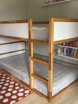 IKEA Reversible bed, white/pineTwin (PENDING PICK UP) for Sale in Seattle,  WA
