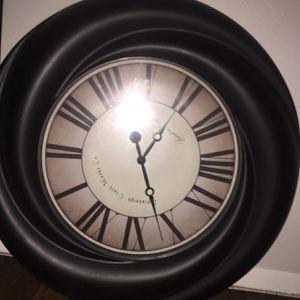 Large clock wall decor for Sale in Tulsa, OK