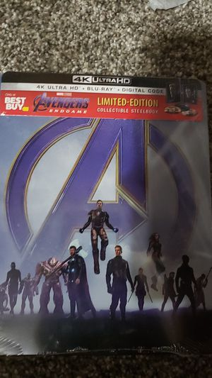 Avengers end game 4k steelbook brand new for Sale in Sioux Falls, SD