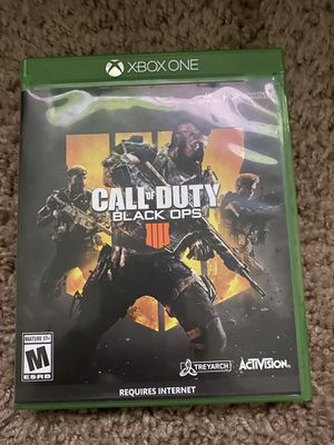 XBOX ONE Call of Duty Black Ops 4 for Sale in Beaufort, SC