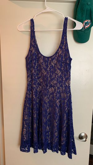 Lush brand Royal blue lace dress. Only worn once. Size 4 for Sale in Plano, TX