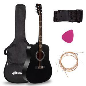 "Sonart 41"" Acoustic Folk Guitar 6 String w/Case Strap Pick Strings for Sale in Woodbridge, VA"