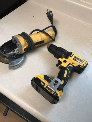 Dewalt grinder and drill battery no charger for Sale in Silver Spring, MD
