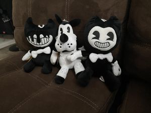 Bendy and the ink Machine Plushies for Sale in San Diego, CA