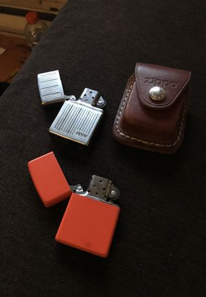 2 Zippo Lighters And Case for Sale in New Britain, CT