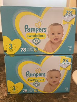 Diapers size 3 swaddlers 78 count for Sale in Fontana, CA
