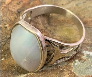 Large Sterling Abalone Men's Ring for Sale in Roswell, GA