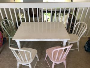 Pottery barn kids table and chairs for Sale in Poway, CA