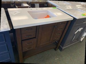 "Brand New Brown 36"" Single Sink Vanity Allen+Roth 4 86 for Sale in Chino, CA"
