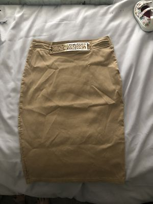 Beige belted gold pencil skirt sexy size m for Sale in North Highlands, CA