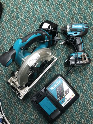 Combo Set, Tools-power Makita Imapct Drill & Circular Saw W/Battery & Charger for Sale in Baltimore, MD