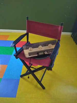 Director's chair and a Emission CD player for Sale in Los Angeles, CA