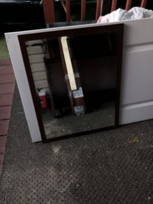 Vanity mirror color dark bronw for Sale in Alexandria, VA
