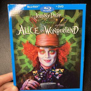 Alice In Wonderland Blu-ray + DVD for Sale in Sunnyvale, CA