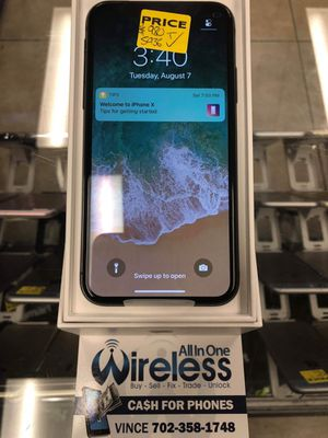 IPHONE X 64GB UNLOCKED for Sale in Las Vegas, NV