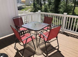 4 chair and a table for sale for Sale in Fairfax, VA