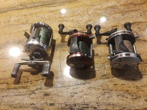 3 musky fishing reels- see descriptions for Sale in Lisle, IL