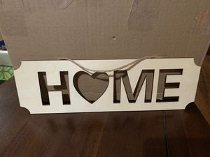 Home sign craft blank for Sale in Olympia, WA