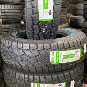 235/75R15 (A/T) Four Brand New Tires Installed and Balanced for Sale in Rialto, CA