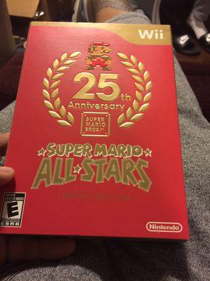 25th anniversary super Mario allstars for wii for Sale in South Hill, WA
