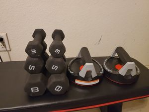 Weights and perfect push up for Sale in Palmview, TX