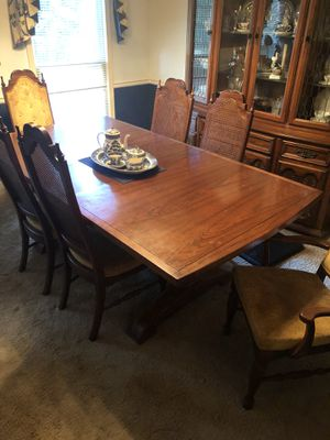 Used, Dining Room Set. 6 Chairs and leaf. China Cabinet. for Sale for sale  McDonough, GA