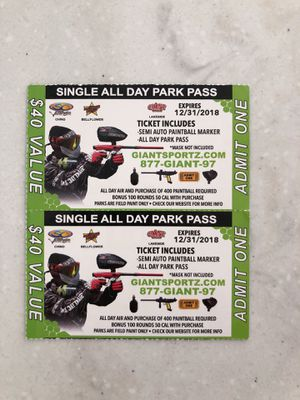 All Day Paintball passes for Sale in Poway, CA