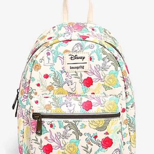 LOUNGEFLY DISNEY BEAUTY AND THE BEAST FLORAL CHARACTER MINI BACKPACK for Sale in Rosemead, CA