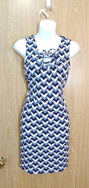 XL-Navy blue, blue & white front lace up sleeveless dress for Sale in Kent, WA