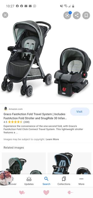 Graco stroller with car seat and base for Sale in Arlington, VA