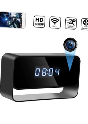 1080P Hidden Camera Clock Wireless Spy Cameras HD WiFi Secret Covert Nanny Cam Home Office Surveillance Security Cams Enhanced Night Vision 12/24 Hou for Sale in Queens, NY