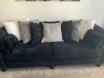 Black Velvet Couch And Chair for Sale in Denver,  CO