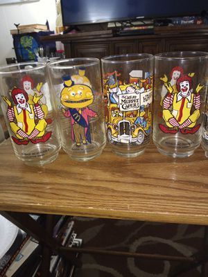 Ronald McDonald collectables glasses for Sale in Gibsonton, FL