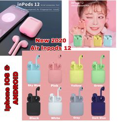 Colourful AirPods , Wireless InPods12 Earbuds, Waterproof EarPods, Bluetooth headphones Compatible With iPhone And Android for Sale in High Point,  NC