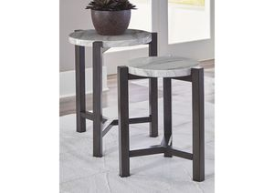 NEW, Crossport Gray/White/Brown Accent Table (Set of 2), SKU# A4000232 for Sale in Huntington Beach, CA
