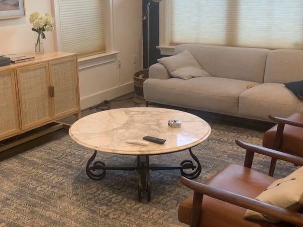 Genuine Carrara Marble Coffee Table
