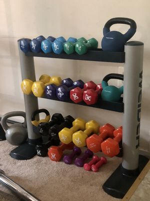 Universal Dumbbell Rack with Tiered Storage (weights NOT included) for Sale in Alexandria, VA
